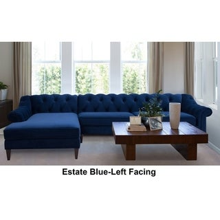 "Gracewood Hollow Samkange Tufted Sectional Sofa - 132""LX77""WX31""H"