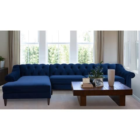 Buy Blue, Velvet Sectional Sofas Online at Overstock | Our Best ...