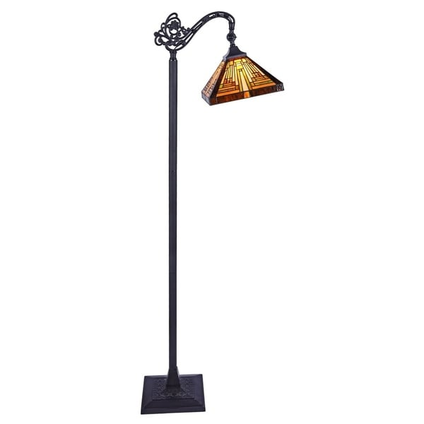 Chloe Innes Collection Tiffany Style 1-light Blackish Bronze Floor Lamp