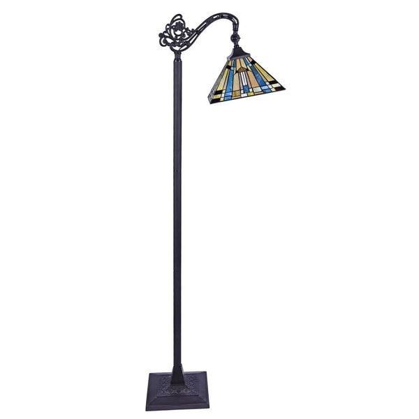 Chloe Kinsey Collection Tiffany Style 1-light Blackish Bronze Floor Lamp