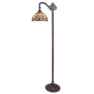 Chloe Cooper Collection Tiffany Style 1-light Blackish Bronze Floor Lamp