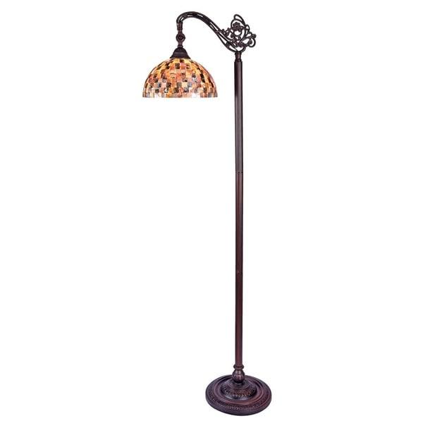 Chloe Shelley Collection Tiffany Style 1-light Blackish Bronze Floor Lamp