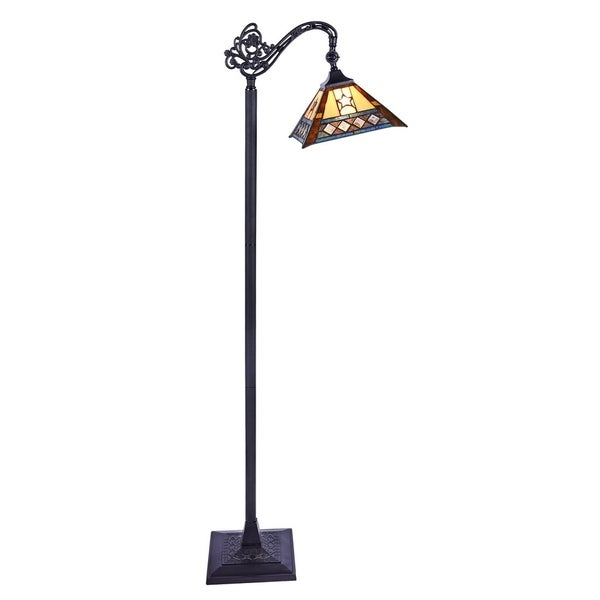 Chloe Tristan Collection Tiffany Style 1-light Blackish Bronze Floor Lamp