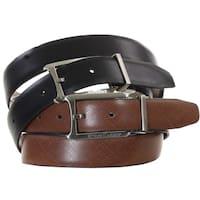 Steve Harvey Dress Belt With Reversible Strap Cognac & Black