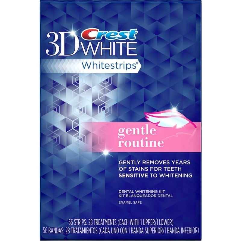 Crest 3D White 56-Count Gentle Routine Whitestrips (28 Tr...