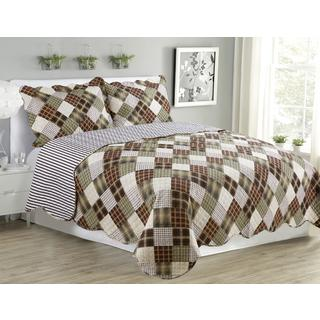 Jennifer Brown Plaid 3 Piece Quilt Set
