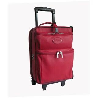 Amerileather Red Leather Novix Garment Bag