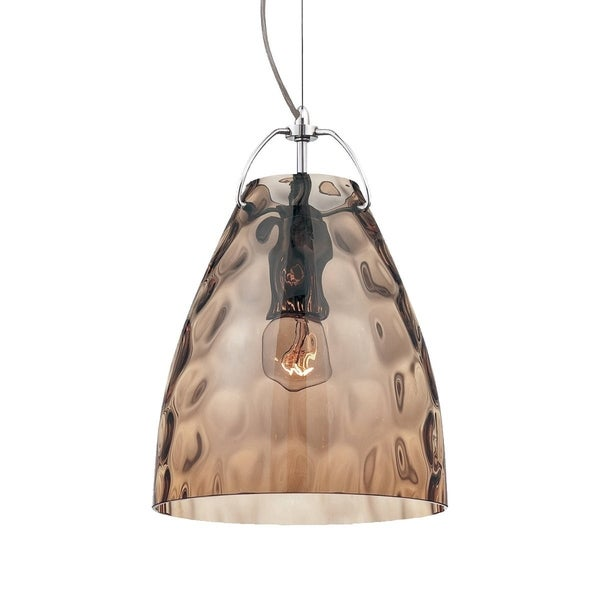 Eurofase Amero Faceted Blown Glass Light Pendant, Amber Glass Shade - 22899-033