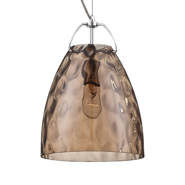 Eurofase Amero Faceted Blown Glass Light Pendant, Amber Glass Shade - 22900-036