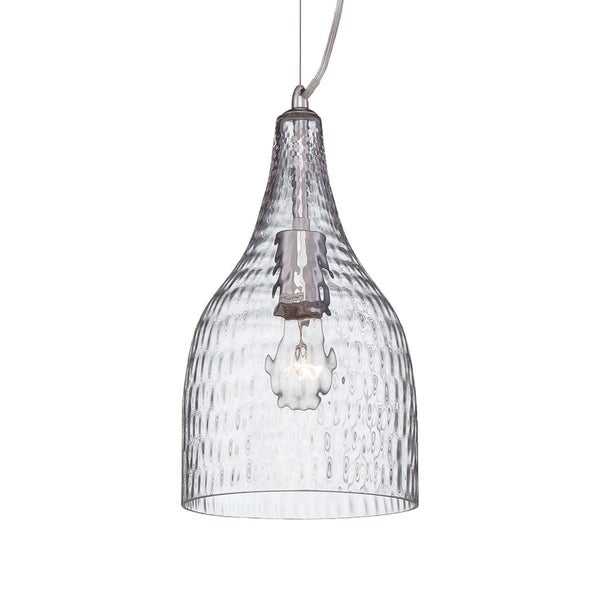 Eurofase Altima Faceted Blown Glass Light Pendant, Clear Glass Shade - 22903-013
