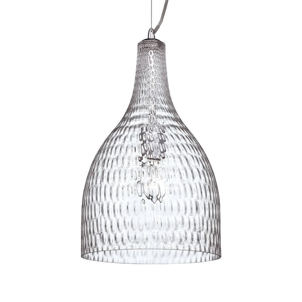 Eurofase Altima Faceted Blown Glass Light Pendant, Clear Glass Shade - 22904-010