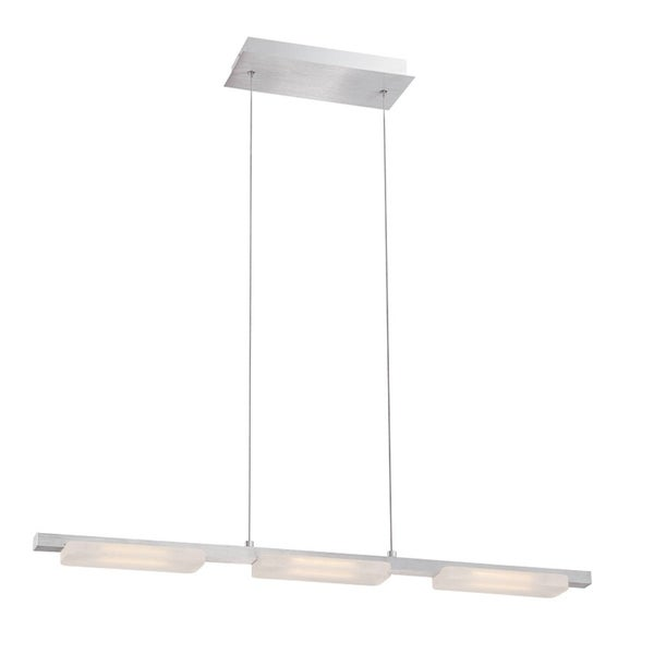 Eurofase Miles Minimalist Suspended Linear Bar LED Light Pendant, Anodized Aluminum Finish - 28087-014