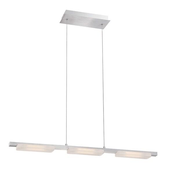 Eurofase Miles Minimalist Suspended Linear Bar LED Light Pendant, Anodized Aluminum Finish - 28087-014