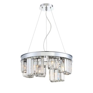 Eurofase Zinco Vintage Industrial Piping Customizable Three-Light Chandelier, Aged Silver Finish