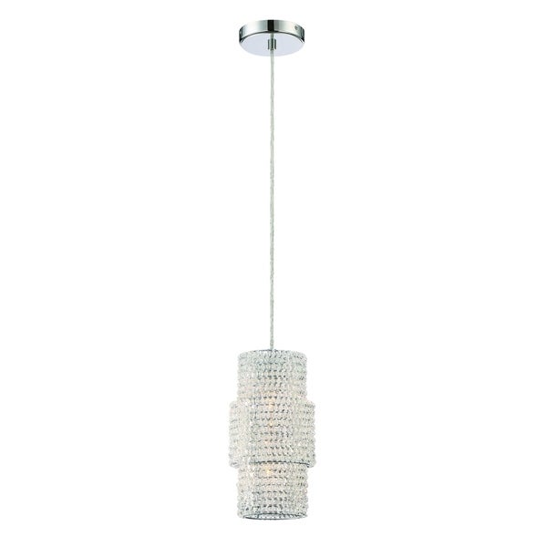 Eurofase Sposa Modern Crystal 2-Light Pendant, Crystal Beaded Glass with Chrome Finish - 31372-015