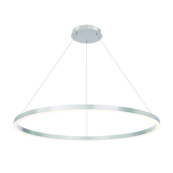 Eurofase Spunto Oversized LED Ring Chandelier, Aluminum Finish with Opal Diffused Shade - 31472-012