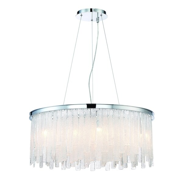 Eurofase Candice Handmade Granular Glass 13-Light Chandelier, Polished Chrome Finish - 31606-011