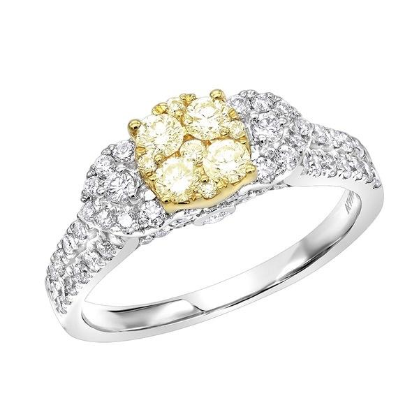113aec6b167c6 Shop Luxurman Natural Yellow Diamond Engagement Ring 1.2ct 14K Gold ...