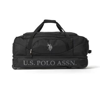 bf9cfe39c041 U.S. Polo Association Black 30-inch Drop-Bottom Rolling Duffel Bag