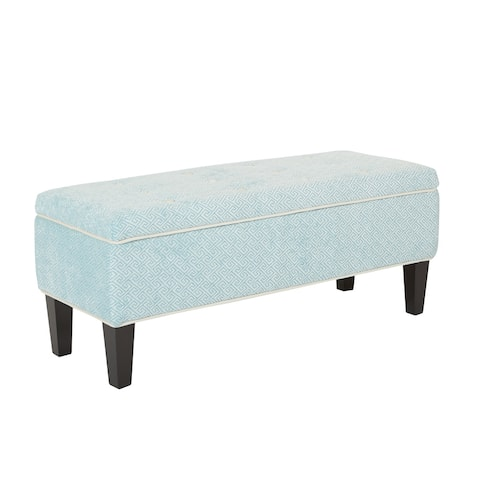 Cambridge Storage Tufted Fabric Bench