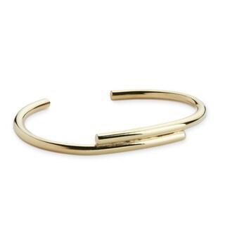 Handmade Gold Overlay Brass Bracelet (Kenya)