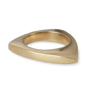 Handmade Gold Overlay Brass Finger Ring (Africa)
