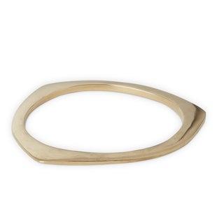 Handmade Gold Overlay Triangle Brass Cuff Bracelet (Kenya)