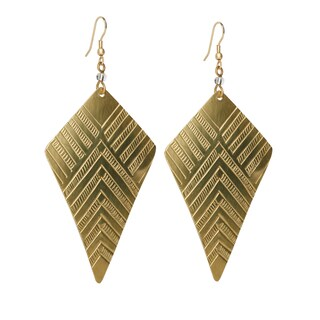 Handmade Gold Overlay Brass Earrings (Kenya)