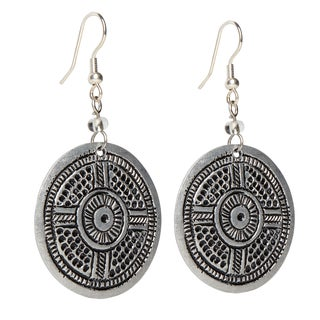 Handmade Circle Aluminum Earrings (Kenya)