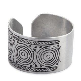 Handmade Wide Aluminum Cuff Bracelet (Kenya)