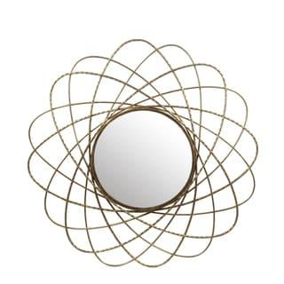 Privilege Gold-tone Iron/Glass Wall Mirror