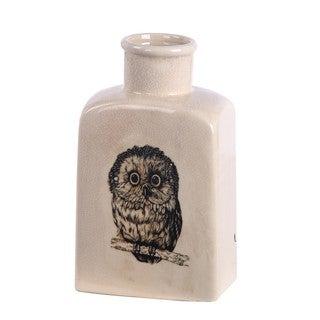 Sm Ceramic Vase - Owl