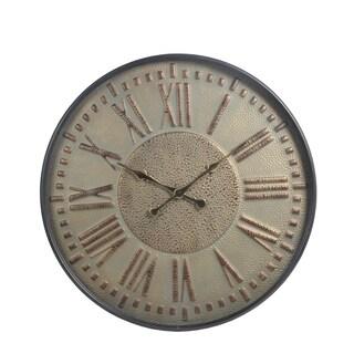 Privilege Grey Metal/Glass Wall Clock