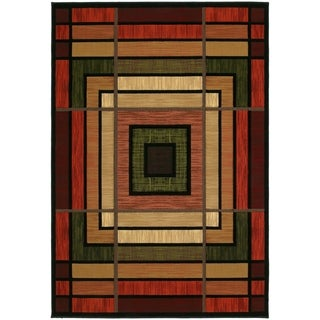 Westfield Home Sculptures Lynette Terracotta Hand Carved Area Rug - 5'3 x 7'6