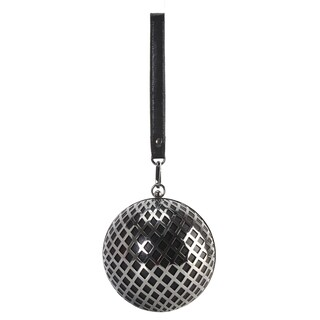 Diophy Metal Hollow Design Round Ball Shape Clutch