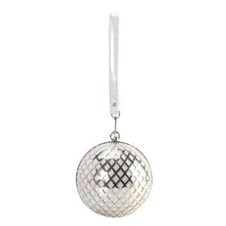 Diophy Metal Hollow Design Round Ball Shape Clutch