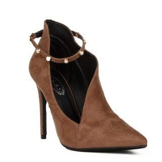 Xehar Womens Pointed Toe Stiletto Heel Ankle Strap Pump