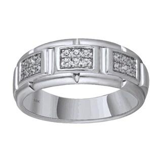 10KT White Gold 1/4cttw Men's Diamond Ring