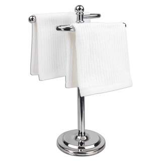 "Chrome Fingertip Towel Holder (13.5""x7"")"