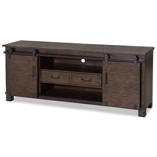 Pine Hill Industrial Rustic Pine Entertainment Console
