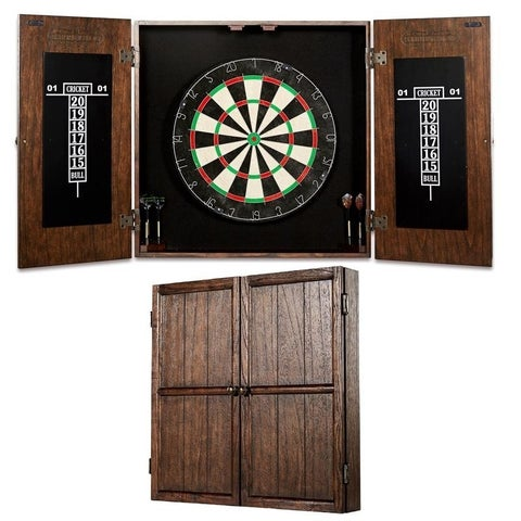Barrington - Webster Bristle Dartboard and Solid Wood Cabinet Set