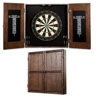 Barrington   Webster Bristle Dartboard And Solid Wood Cabinet Set