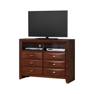 Blemerey Cherry Wood Fully Assembled TV Chest