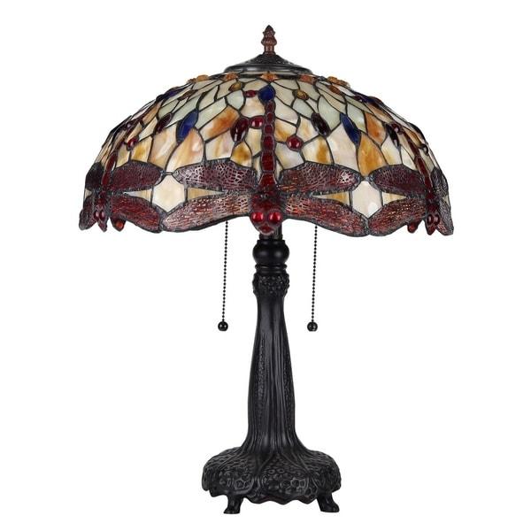 Chloe Empress Collection Tiffany Style 2-light Dark Bronze Table Lamp