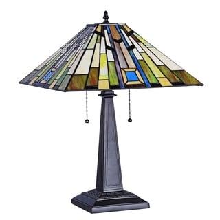 Chloe Rashid Collection Tiffany Style 2-light Blackish Bronze Table Lamp