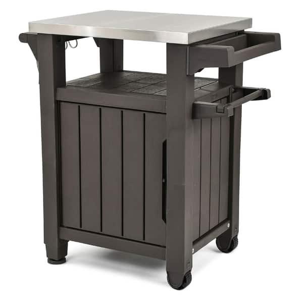 Shop Keter Unity Indoor Outdoor Serving Cart Prep Station ...