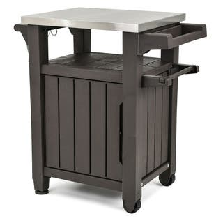 Keter Unity Indoor Outdoor Serving Cart Prep Station with Storage|https://ak1.ostkcdn.com/images/products/17925661/P24106639.jpg?impolicy=medium