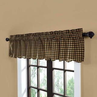 "Check Scalloped Valance - 16"" x 72"""