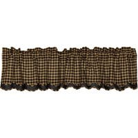 "Check Scalloped Lined Valance - 16"" x 72"""