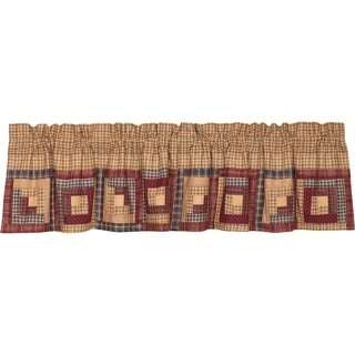 "Millsboro Log Cabin Block Border Lined Valance - 16"" x 72"""